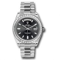 Rolex Day-Date 40 Platine 40mm Noir