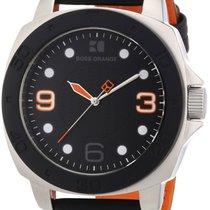 Hugo Boss ORANGE Black Leather Mens Watch