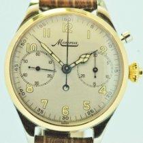 Minerva Gold/Stahl 42,30mm Handaufzug Valjoux 55   mit angefertigtem Uhrengehäuse UNIKAT neu Deutschland, coburg