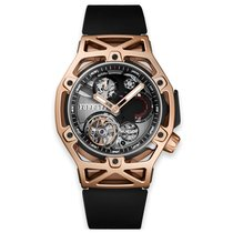 Hublot Techframe Ferrari Tourbillon Chronograph Roségoud 45mm Zwart