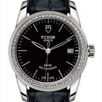 Tudor Glamour Date Steel 36mm Black