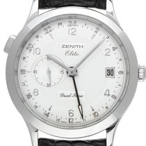 Zenith Steel Automatic Champagne 39mm pre-owned Elite Dual Time