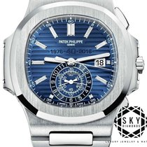 Patek Philippe Nautilus White gold 44mm Blue No numerals