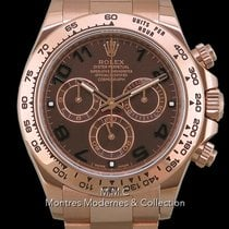 Rolex Rose gold Automatic Brown Arabic numerals 40mm pre-owned Daytona