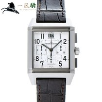 Jaeger-LeCoultre Reverso Squadra Chronograph GMT Steel 50mm Silver