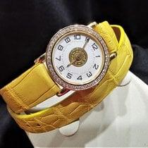 Hermès Sellier Gelbgold 26mm Weiß Arabisch