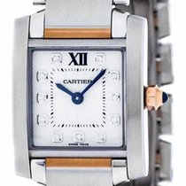 Cartier WE110004 Tank Francaise Small Diamonds Women's Two...