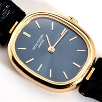 百達翡麗 (Patek Philippe) Golden Ellipse 18K Yellow Gold Blue Dial...