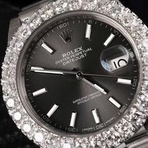 Rolex Datejust 41mm Rhodium Dial Diamond Bezel 126300
