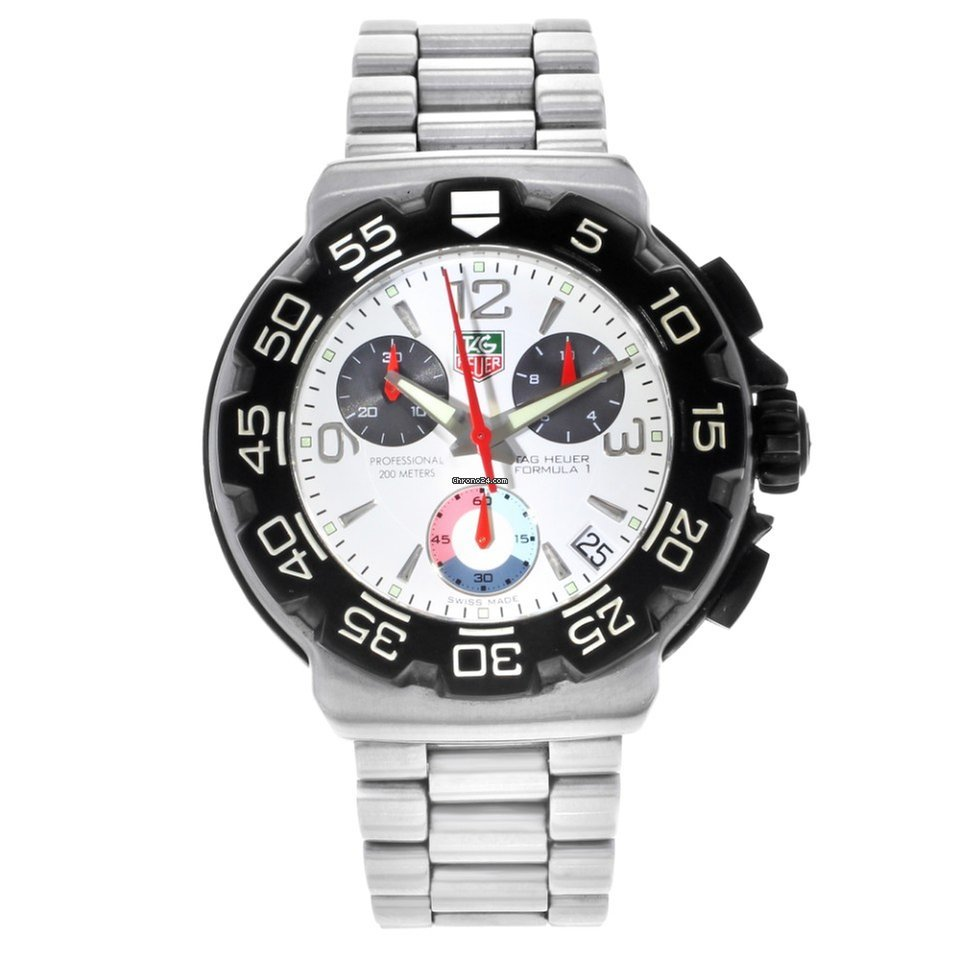 a9cfd748a7d9 TAG Heuer Formula 1 Steel Titanium White Dial Quartz Watch -... for ...