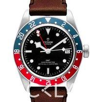 帝陀 Black Bay GMT Black Steel/Leather - 79830RB