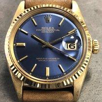 Rolex Vintage Rolex Datejust 36mm 1601 18k Yellow Gold Blue...