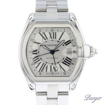 Cartier Roadster Steel 41.7mm Silver Roman numerals
