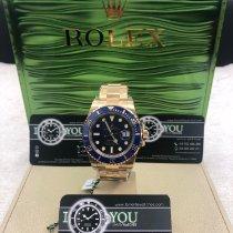 Rolex Gelbgold Automatik Blau Keine Ziffern 40mm neu Submariner Date