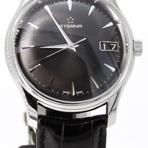 Eterna Vaughan Acero 42mm Negro