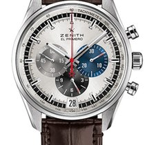 Zenith El Primero 36'000 VpH Steel 42mm Silver No numerals United States of America, New York, New York