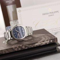 Patek Philippe Nautilus Steel 35.2mm Blue No numerals