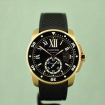 Cartier Calibre de Cartier Diver Rose gold 42mm Black