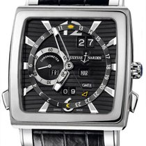 Ulysse Nardin Quadrato Dual Time Perpetual Oro blanco 42mm Negro