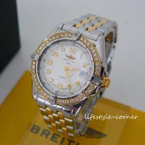 Breitling Wings Lady Acero y oro 31mm Blanco Árabes
