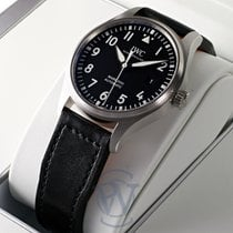 IWC Pilot Mark Otel 40mm Negru Arabic