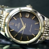 Omega Seamaster Date Automatic Gold Cap Mens Watch RICE BEAD BAND