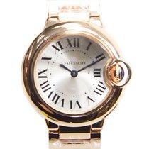 Cartier Ballon Bleu 18k Rose Gold Silver Quartz W69002Z2