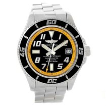 Breitling Superocean 42 Abyss Black Yellow Automatic Mens...