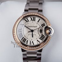 Cartier Ballon Bleu 33mm RG Diamond Bezel