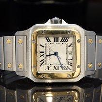 Cartier Steel & Gold Santos Quartz, Boxed, MINT