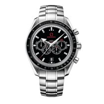 Omega Speedmaster Broad Arrow Aço 44.2mm Preto