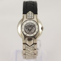 Versace pre-owned Quartz 24mm Silver Sapphire crystal