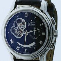 Zenith El Primero Chronomaster pre-owned 45mm Black Chronograph Leather