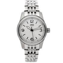 Oris Big Crown pre-owned 38mm Silver Fold clasp