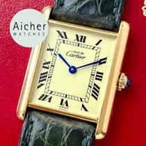 Cartier Tank Vermeil 590005 Veldig bra Sølv 22mm Kvarts