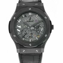 Hublot Ceramic Manual winding Transparent 45mm pre-owned Classic Fusion Ultra-Thin