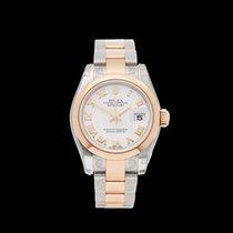 Rolex Datejust Stainless Steel & 18k Rose Gold Ladies...