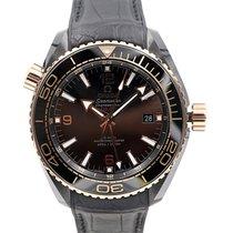 Omega Seamaster Planet Ocean Deep Black 46 Date GMT