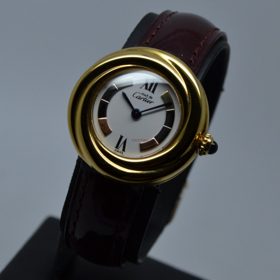 Cartier Trinity 27mm Must Vermeil Argent Silver Gold Plated