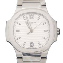 百达翡丽  Nautilus Stainless Steel Silvery White Automatic...