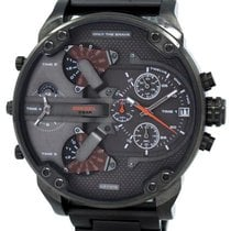 Diesel Daddies Gunmetal Ion-plated Chronograph Four Time Zone...
