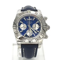 Breitling Chronomat 44 Steel 44mm Blue No numerals