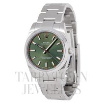 Rolex Oyster Perpetual 34 Steel 34mm Green United States of America, New York, Hartsdale