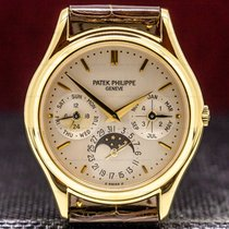 Patek Philippe Perpetual Calendar Yellow gold 36mm Silver United States of America, Massachusetts, Boston
