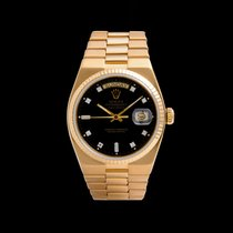 Rolex Day-Date Oysterquartz Or jaune 36mm Noir
