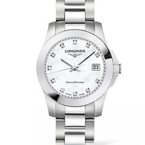 Longines Conquest Mother Of Pearl Dial With Diamonds R