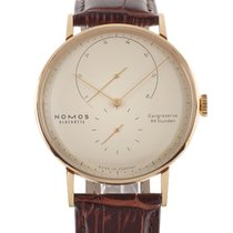 NOMOS Rose gold Manual winding Champagne No numerals 42mm pre-owned Lambda