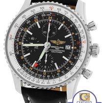 Breitling MINT Breitling Navitimer World GMT Stainless Black...