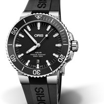 Oris Aquis Date Steel 43,5mm Black No numerals