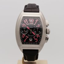Franck Muller Steel Automatic Black 40mm pre-owned Conquistador